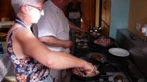 Pasta alla Boscaïola - Torta di Albicoche (Mai 2018)